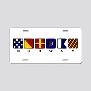 Nautical Norway Aluminum License Plate