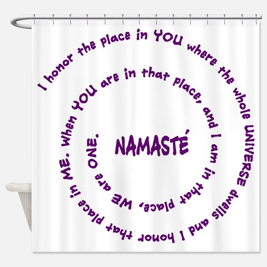 Namaste Meaning in Sacred Pu Shower Curtain