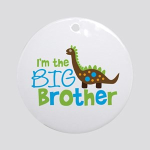Dinosaur Big Brother Ornament (Round)