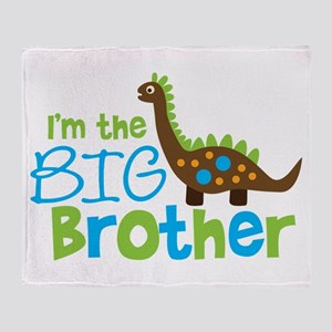 Dinosaur Big Brother Throw Blanket