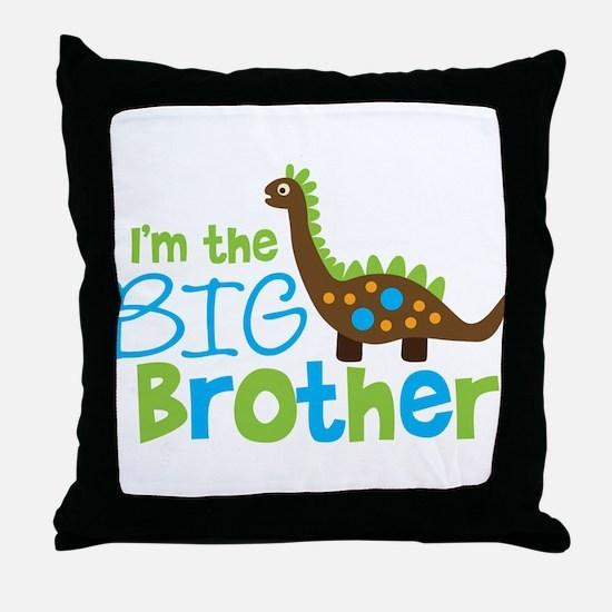 Dinosaur Big Brother Throw Pillow