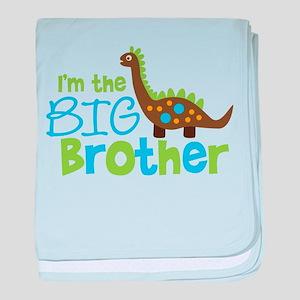 Dinosaur Big Brother baby blanket