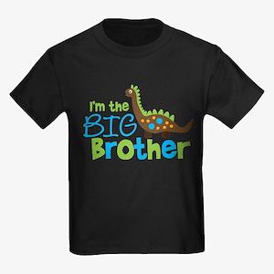 Dinosaur Big Brother Kids Dark T-Shirt