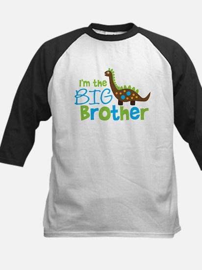 Dinosaur Big Brother Kids Baseball Jersey