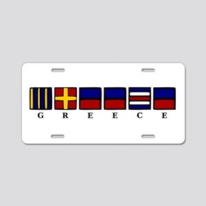 Nautical Greece Aluminum License Plate
