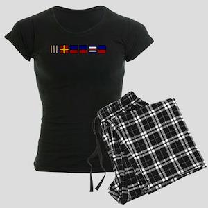 Nautical Greece Women's Dark Pajamas