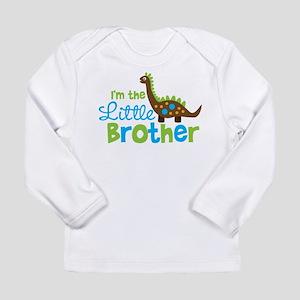 Dinosaur Little Brother Long Sleeve Infant T-Shirt