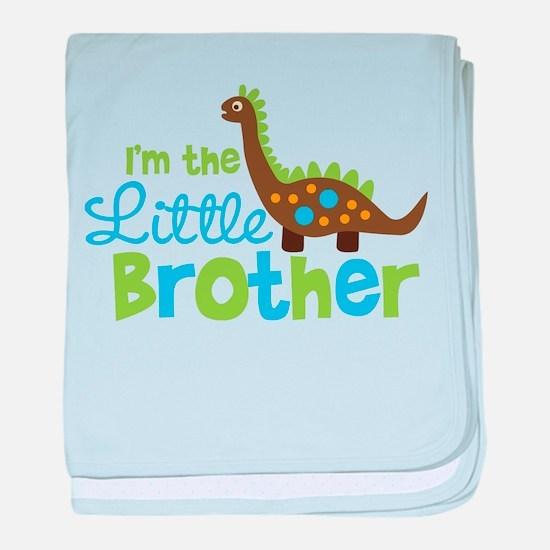 Dinosaur Little Brother baby blanket