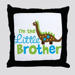 Dinosaur Little Brother Throw Pillow