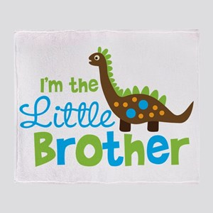 Dinosaur Little Brother Throw Blanket