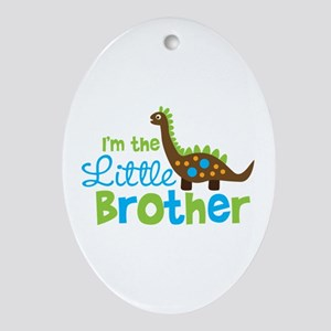Dinosaur Little Brother Ornament (Oval)