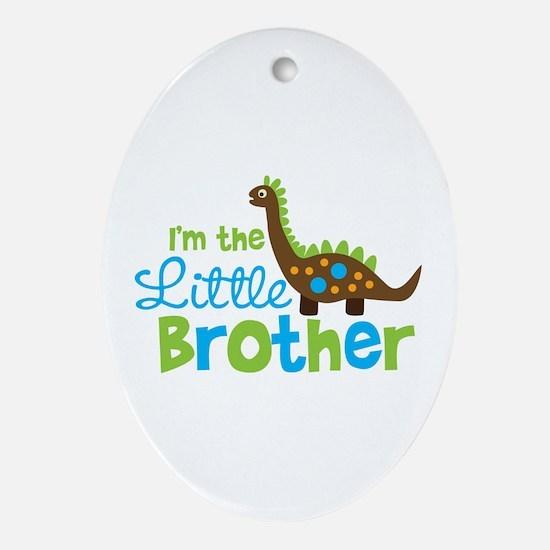 Dinosaur Little Brother Ornament (Oval)