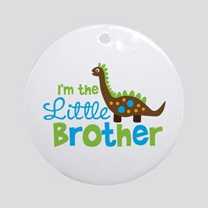 Dinosaur Little Brother Ornament (Round)