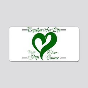 Stop Liver Cancer Aluminum License Plate