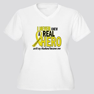 Real Hero Sarcoma Women's Plus Size V-Neck T-Shirt