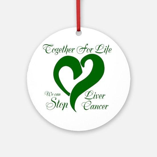 Stop Liver Cancer Ornament (Round)