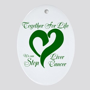 Stop Liver Cancer Ornament (Oval)