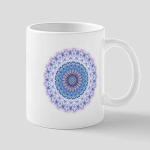Pretty Blue Kaleidoscope Mandala Mug