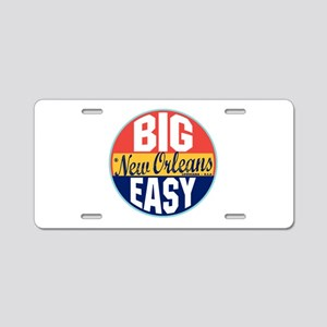 New Orleans Vintage Label Aluminum License Plate