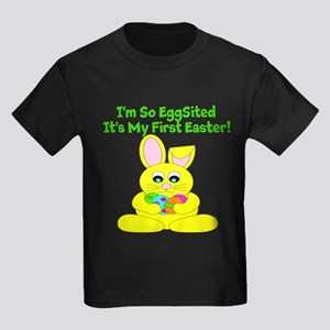 Eggsited First Easter Kids Dark T-Shirt