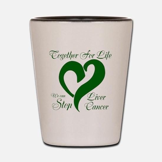 Stop Liver Cancer Shot Glass