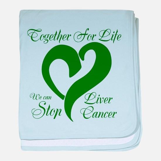 Stop Liver Cancer baby blanket