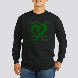Stop Liver Cancer Long Sleeve Dark T-Shirt