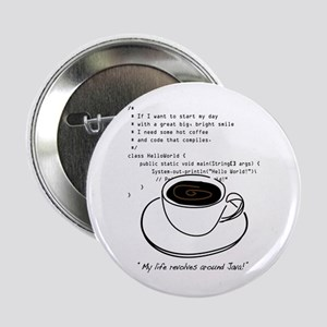 "Geektastic: Java Life - 2.25"" Button"