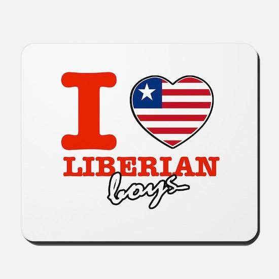 I love Liberian boys Mousepad