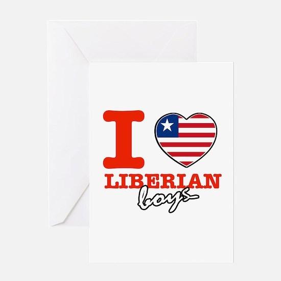 I love Liberian boys Greeting Card