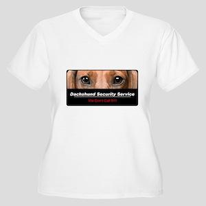 Dachshund Security Service Women's Plus Size V-Nec