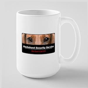 Dachshund Security Service Large Mug
