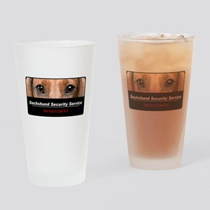 Dachshund Security Service Drinking Glass
