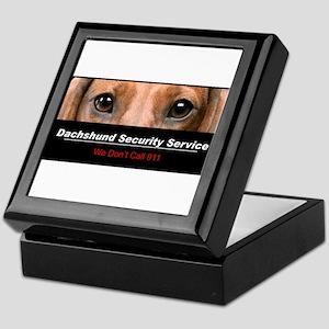 Dachshund Security Service Keepsake Box