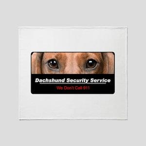 Dachshund Security Service Throw Blanket