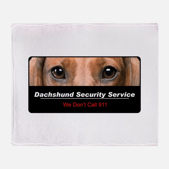 Dachshund Security Service Throw Blanket