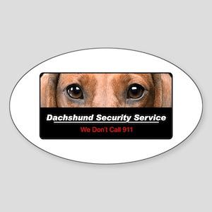 Dachshund Security Service Sticker (Oval)