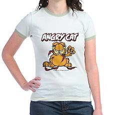 ANGRY CAT Jr. Ringer T-Shirt