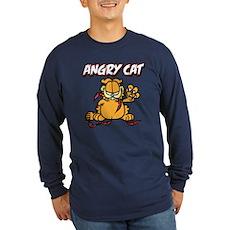 ANGRY CAT Long Sleeve Dark T-Shirt