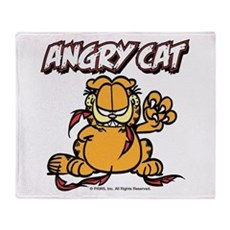 ANGRY CAT Throw Blanket