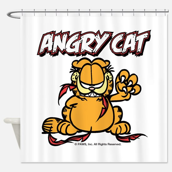 ANGRY CAT Shower Curtain