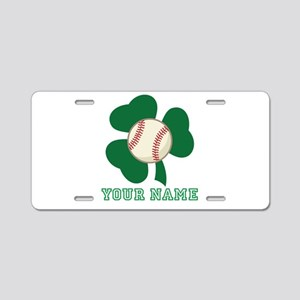 Personalized Irish Baseball Gift Aluminum License