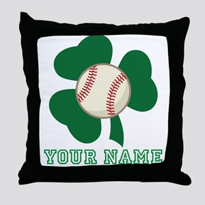 Personalized Irish Baseball Gift Throw Pillow