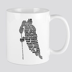 Language of Hockey (skater) Mug