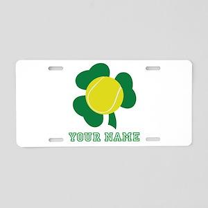 Personalized Irish Tennis Gift Aluminum License Pl