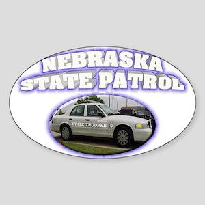 Nebraska State Patrol Sticker (Oval)