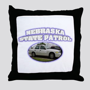 Nebraska State Patrol Throw Pillow