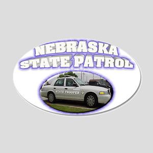 Nebraska State Patrol 22x14 Oval Wall Peel