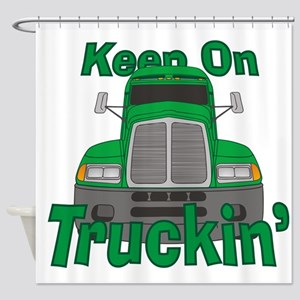 Keep On Truckin Shower Curtain