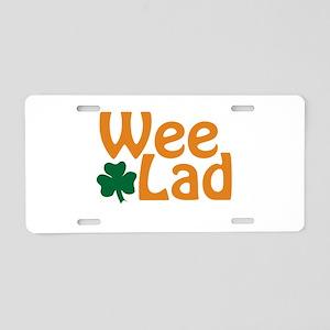 Wee Lad Shamrock Aluminum License Plate